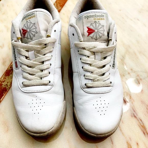 fa53d999162d7 White Vintage Reebok Tennis Shoes